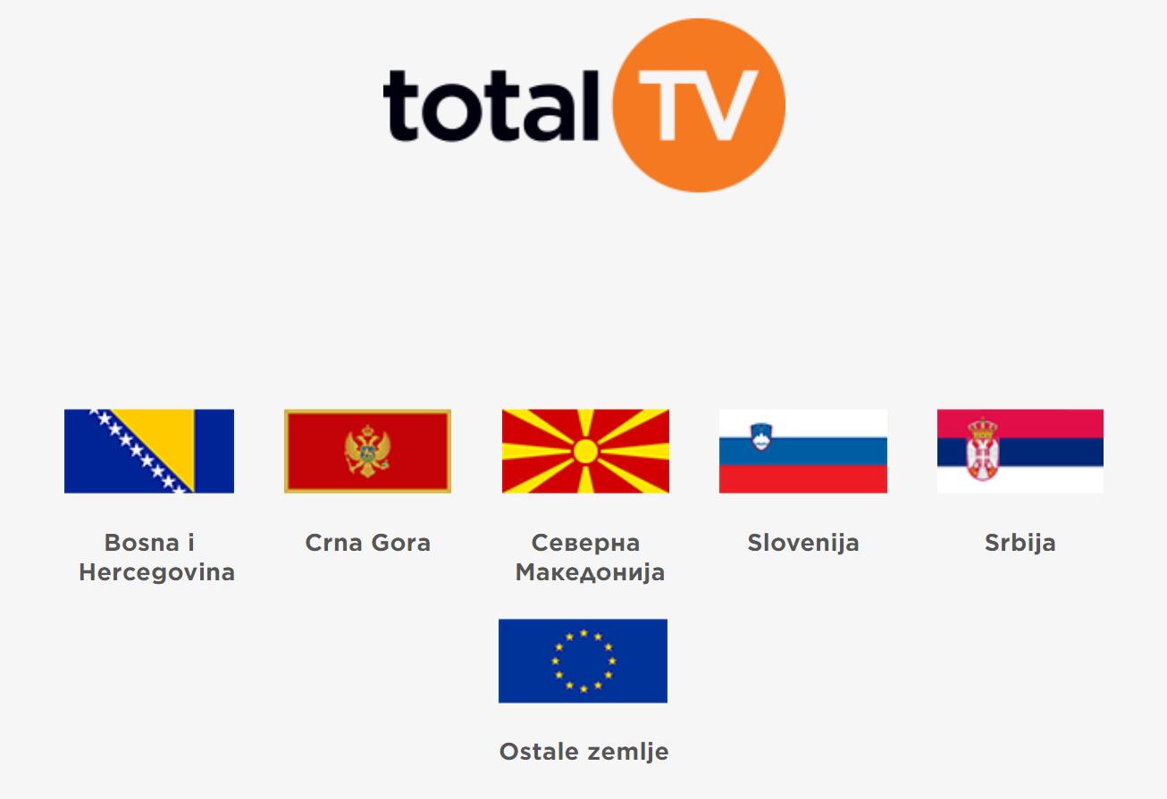 Canali sat limiti geo Total TV