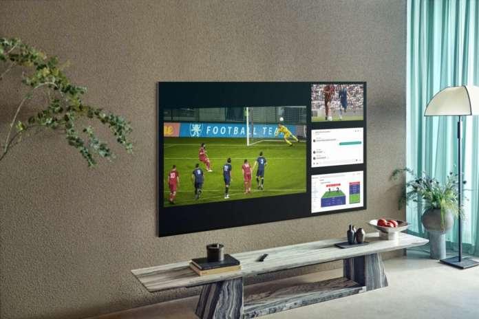 Il calcio sui televisori Samsung