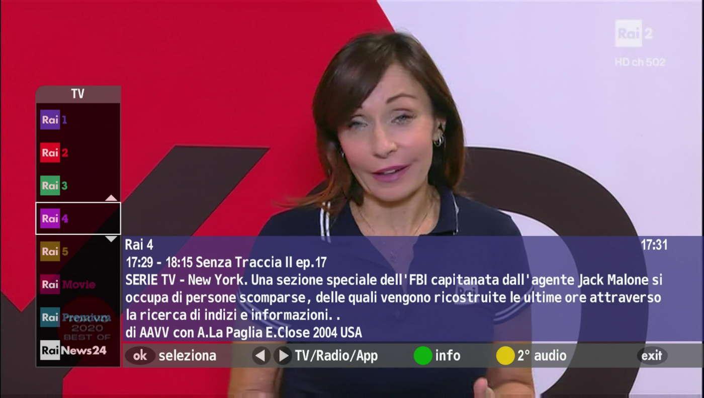 Telecomando Rai MHP-HbbTV
