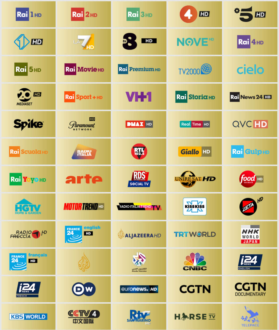 tivùsat - canali HD