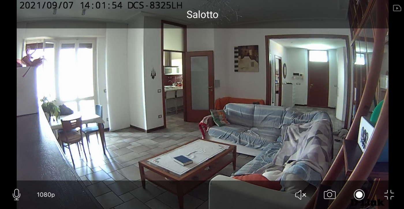 Ripresa diurna telecamera IP DLink DCS-8325LH