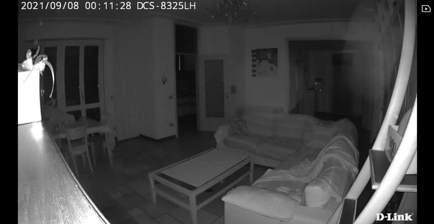 Ripresa notturna telecamera IP DLink DCS-8325LH