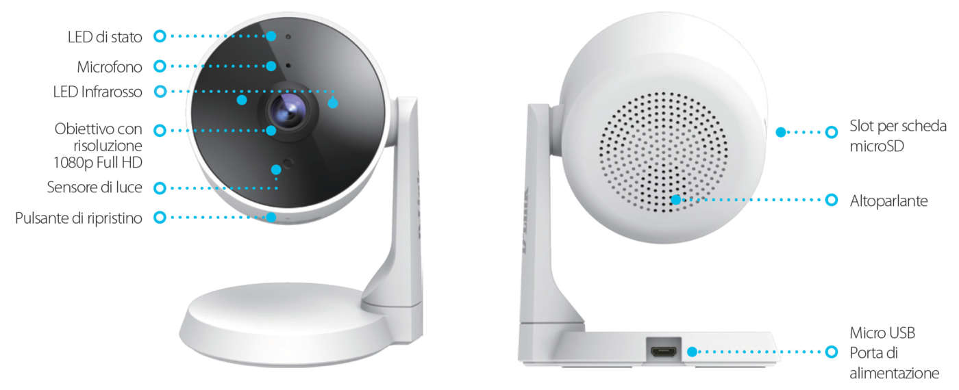 Elementi telecamera IP DLink DCS-8325LH